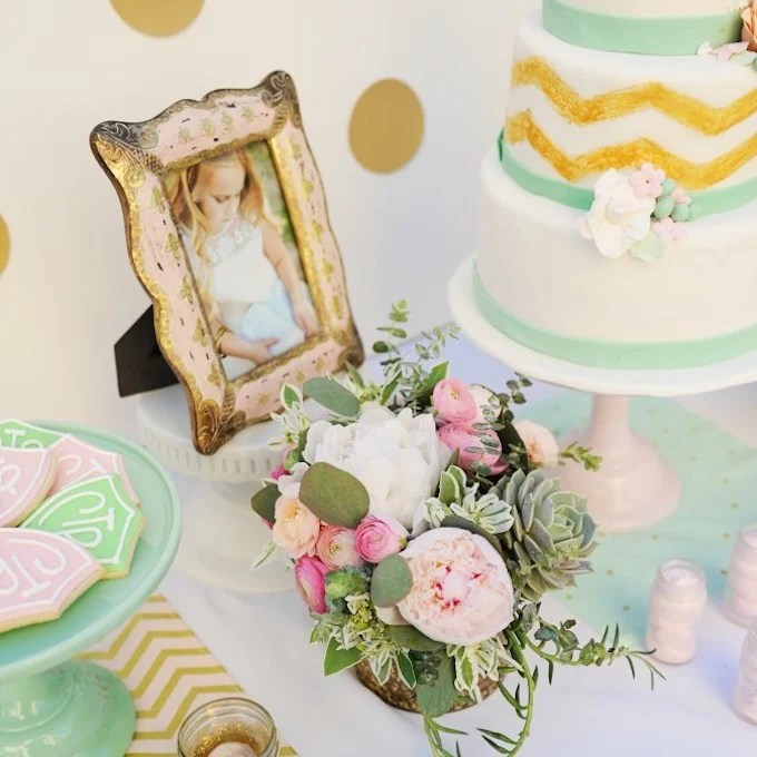 Baptism Party Ideas Supplies Decorations Tutorial Pink Gold Mint