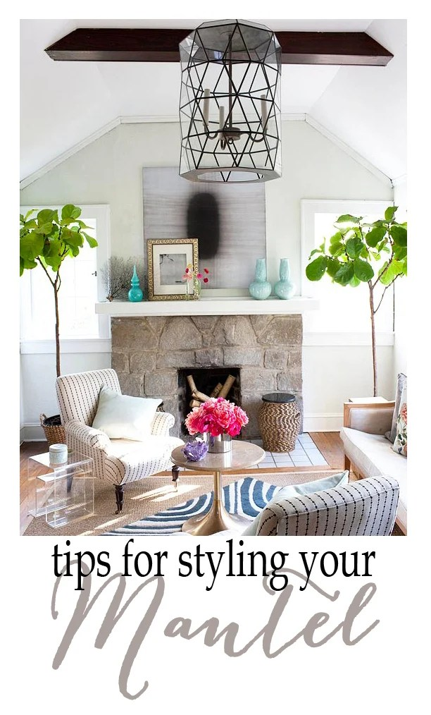 styling a mantel tips for styling Pink Peppermint Design