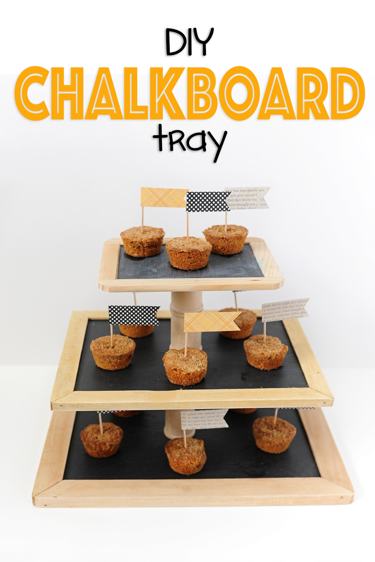 How To Make a Cute DIY Chalkboard Tray