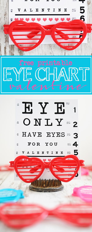 Free printable eye chart valentine