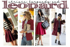 Sunday Style: Stripes, Burgundy and Leopard–Oh My!