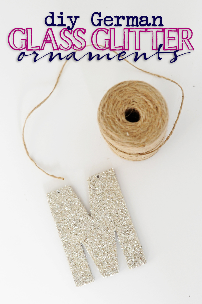 german glass glitter ornaments diy