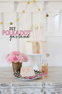 DIY Garland with Gold Polka Dots