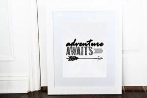 Adventure Awaits…free printable art print