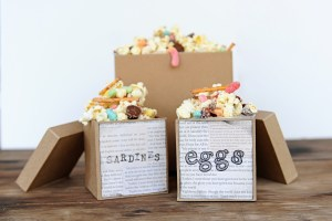 The Boxtrolls Family Movie Night: Popcorn Snack Mix Recipe and Party Craft Idea