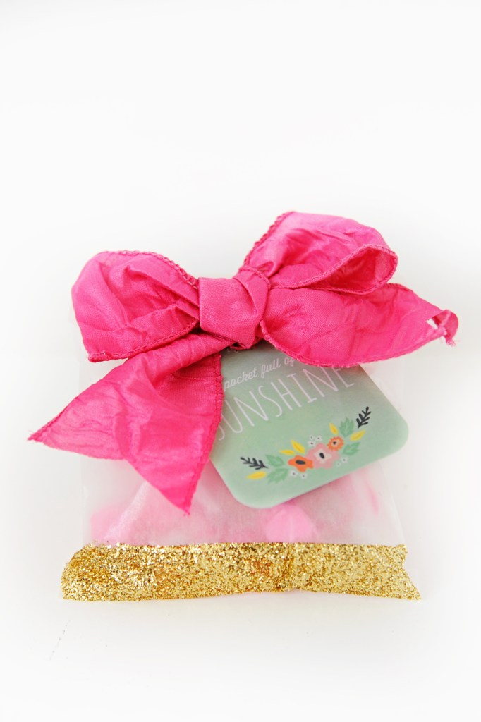 diy glitter party bags