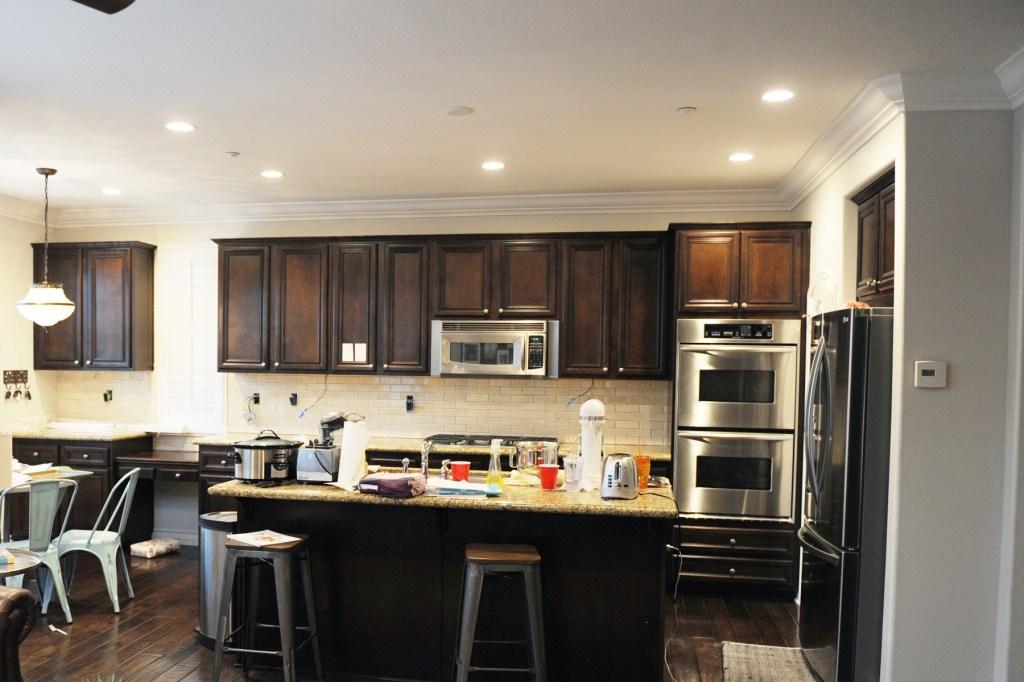 peo kitchen with backsplash in process