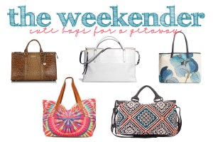 Shopping: The Weekender : Cute Bags for a Getaway