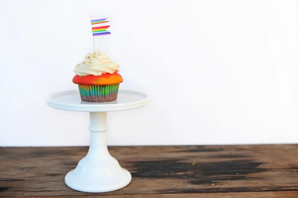 rainbow cupcake header