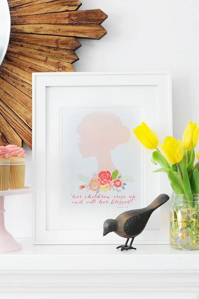 free Mother's Day Printable and Mother's Day Gift Ideas Pink Peppermint Design