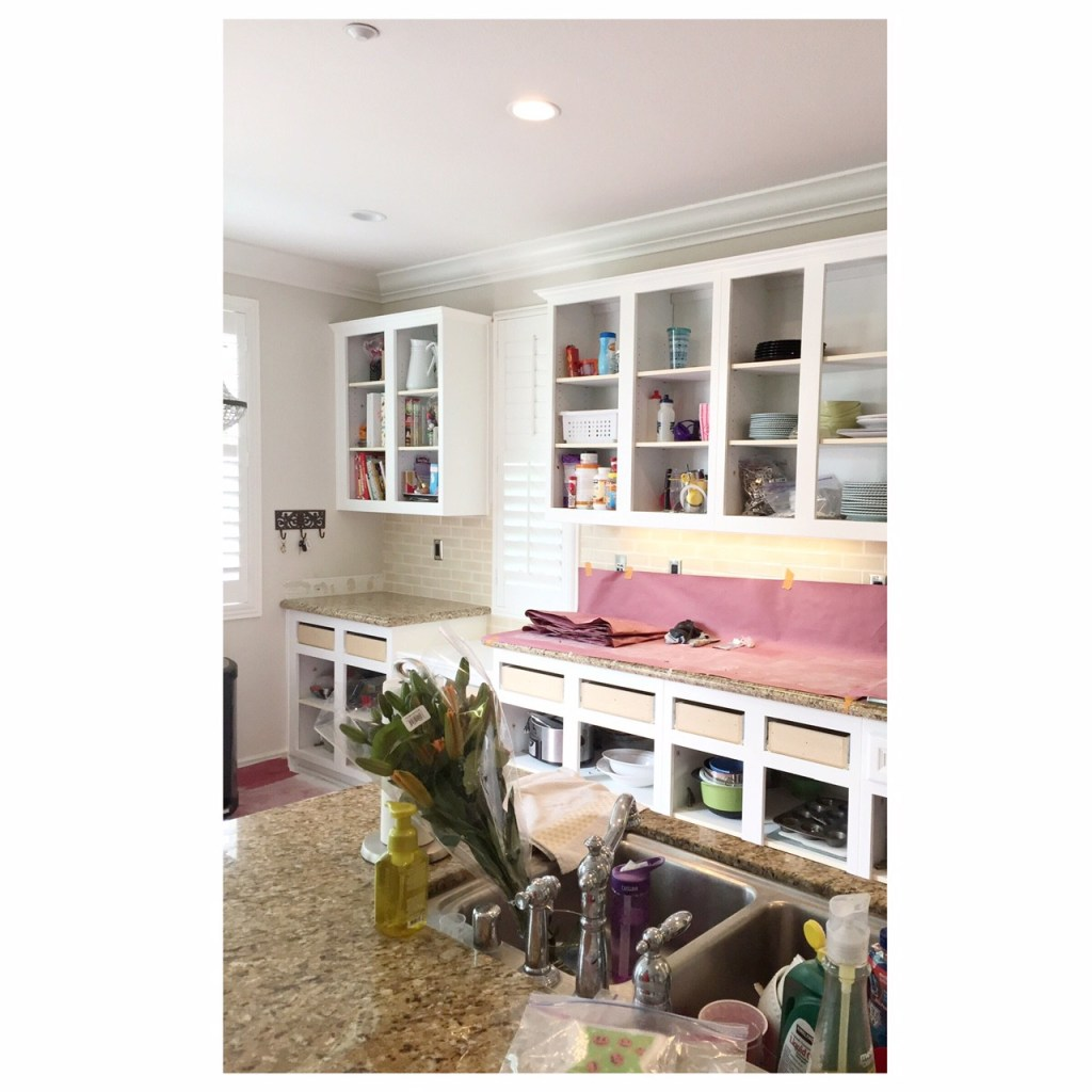 white kitchen makeover remodel