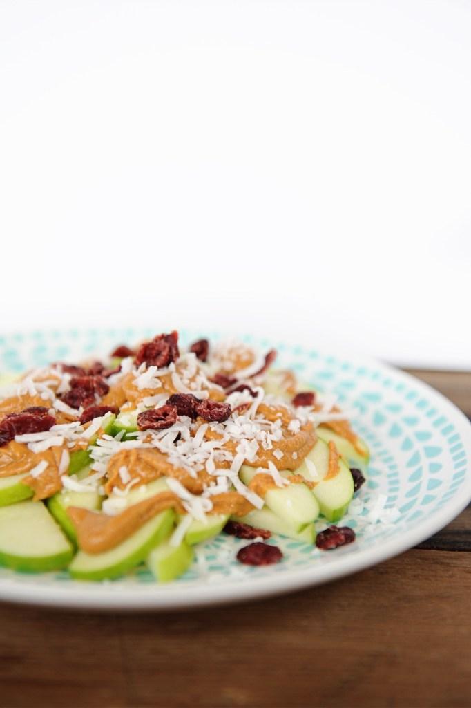 healthy after school snacks ideas for kids apple nachos Pink Peppermint Design