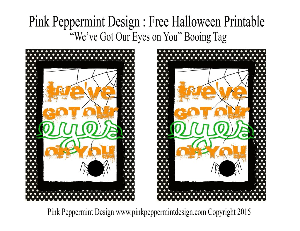 Free Halloween Booing Tags We've got our eye on you