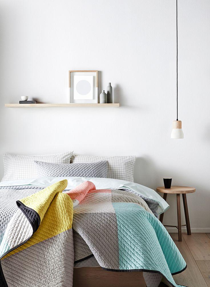 pendant lights in a bedroom
