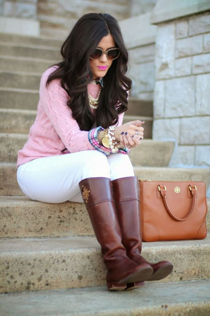 how to style and wear white jeans for fall and winter