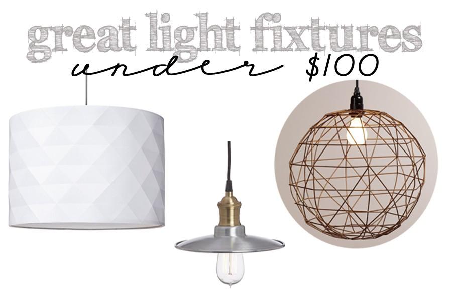 great light fixtures under 100 header
