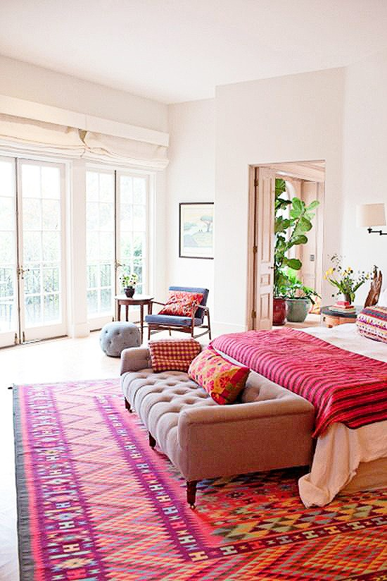 how to decorate with kilim rugs in a master bedroom feedly