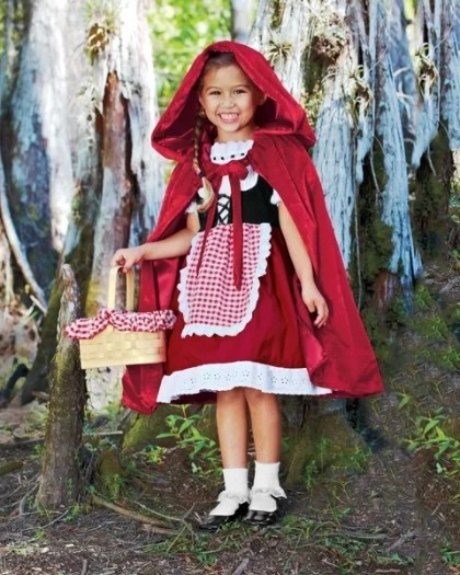 little red riding hood chasing fireflies costume