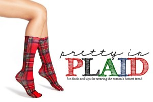 Pretty in plaid header copy