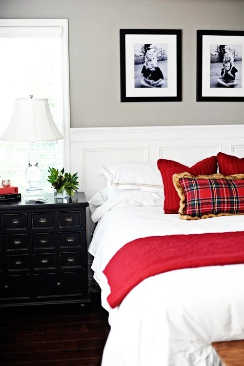 christmas master bedroom makeover