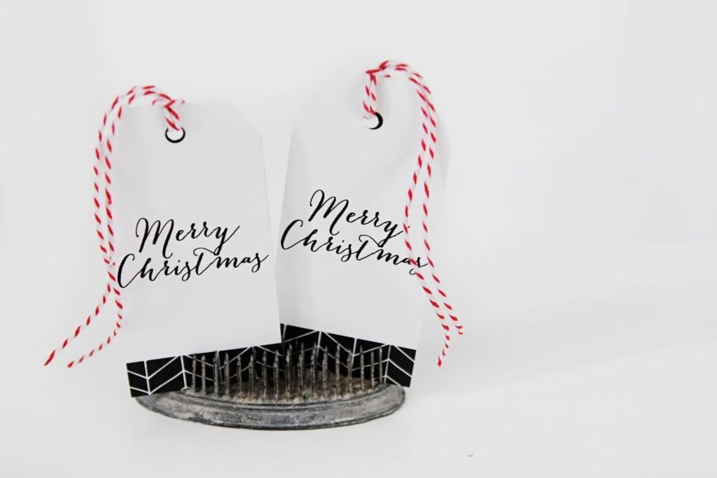 merry christmas printable tags