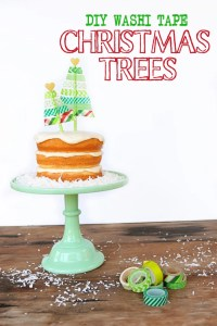 Washi Tape Christmas Tree Cute DIY Cake Topper