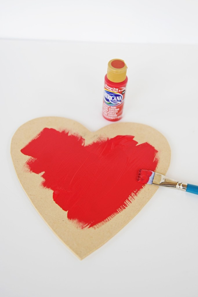 heart shaped decorations to make step 1