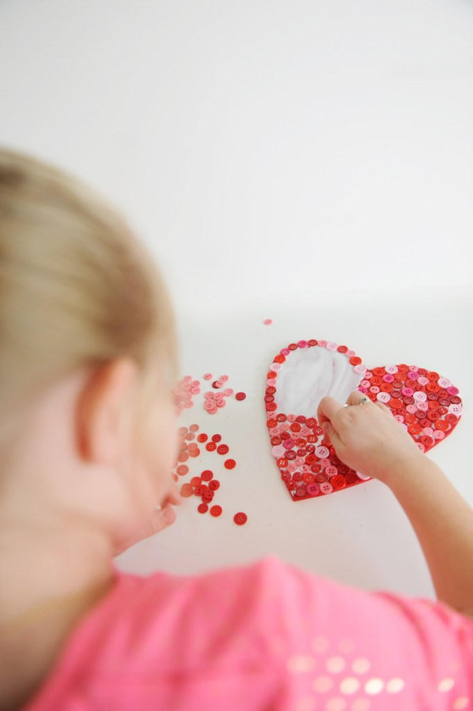 heart shaped decorations to make step 4