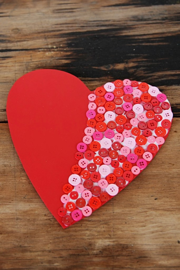 heart shaped decorations to make step 2