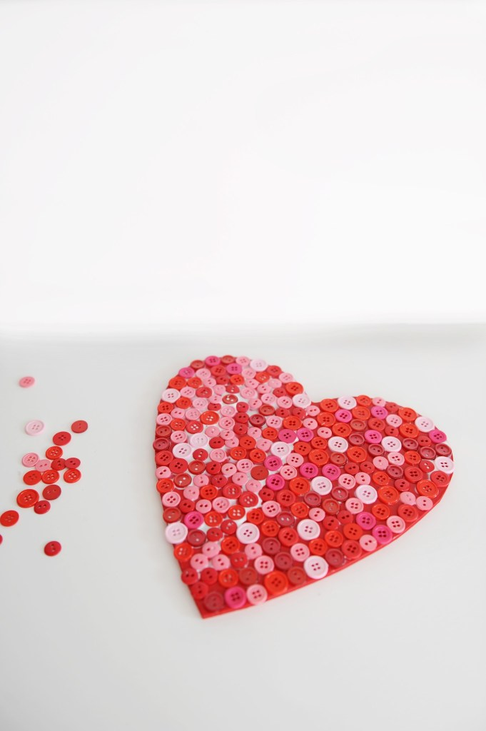 heart shaped decorations to make step 5