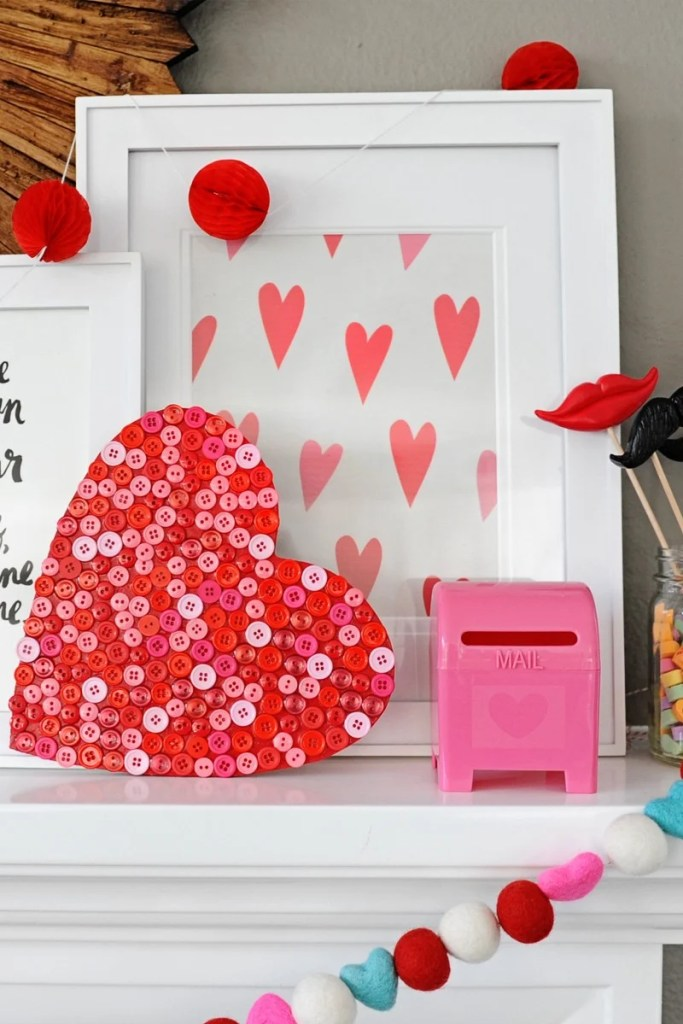 heart shaped decorations to make