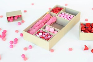 Make this Easy and Cute Valentine Pink and Red DIY Candy Gift Box