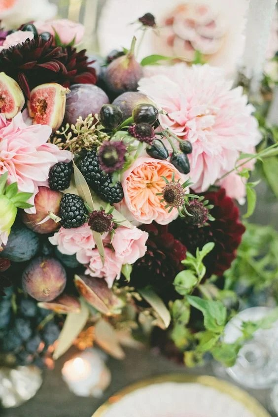 fruit and florals