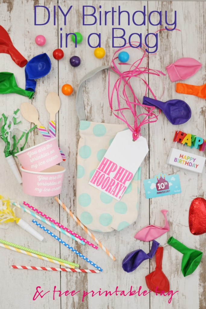 DIY Birthday in a bag