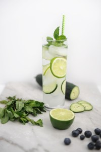 Cucumber, Lime and Mint Infused Water
