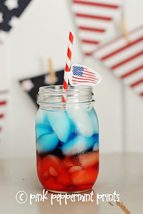 red white and blue layered drink tutorial