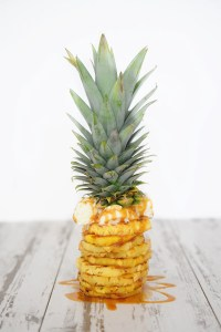 Pineapple Dessert : Grilled Pineapple with Coconut Gelato