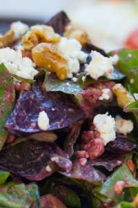 Mixed Greens, Pear and Gorgonzola Salad with a Cherry Vinaigrette