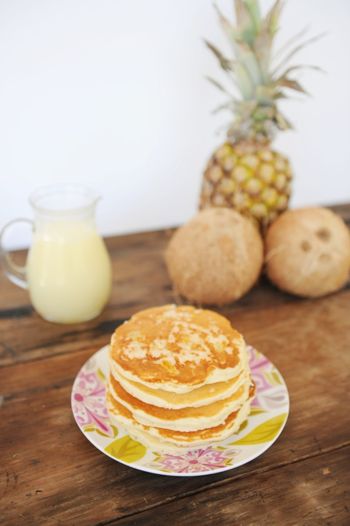 coconut pineapple pancakes