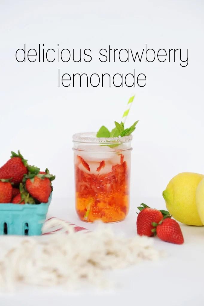 delicious strawberry lemonade