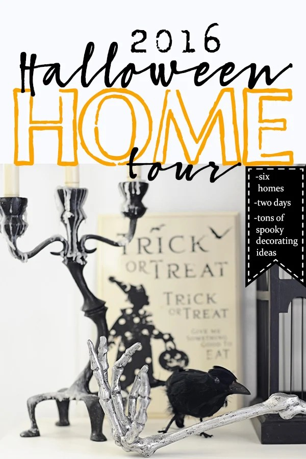 blogger halloween home tour