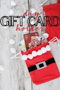 DIY Gift Card Holder : Cute Santa Gift Card Bag Idea
