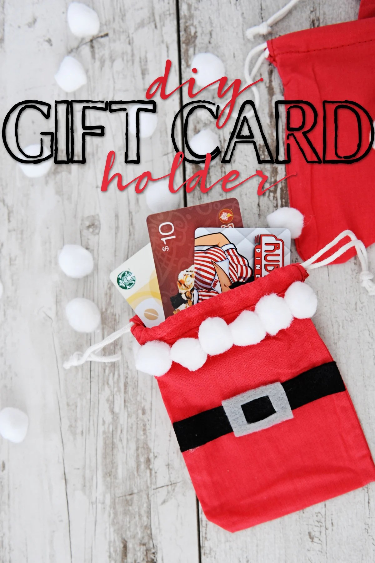 DIY Gift Card Holder : Cute Santa Gift Card Bag Idea - Pink ...