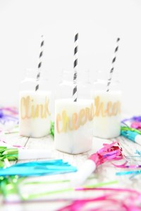 New Year's Eve Party Ideas : Cheers Party Bottles