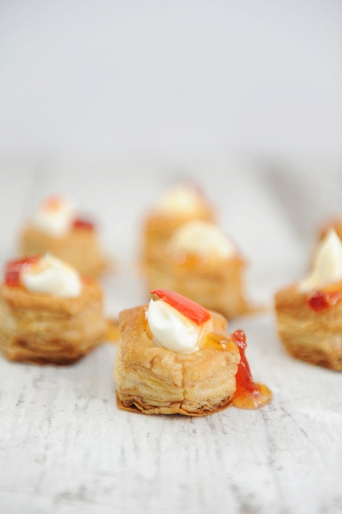 Cream Cheese and Pepper Jelly Puffs by Tammy Mitchell