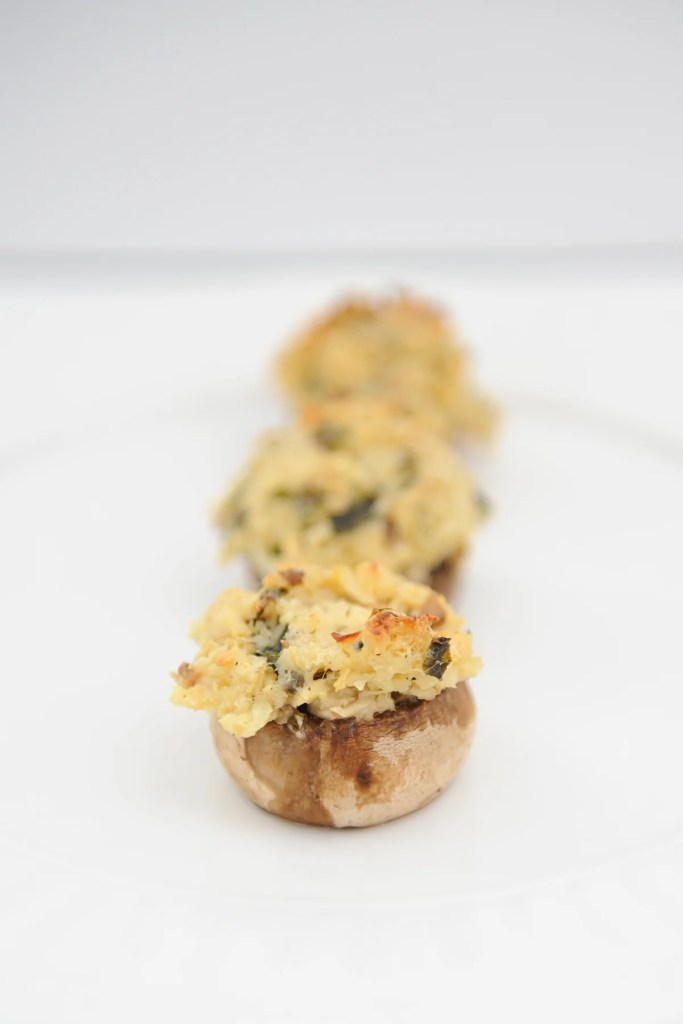 chicken piccata stuffed mushrooms