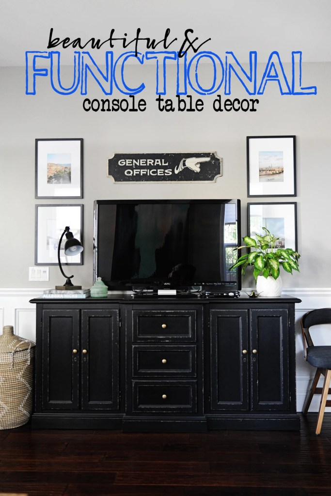 Console styling and decor