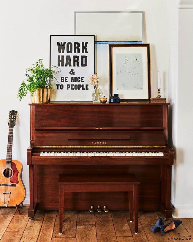 Lauren conrads home yamaha piano