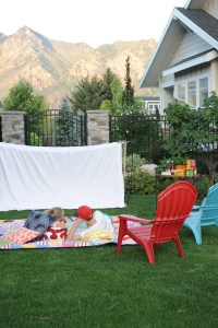 Host an outdoor movie night