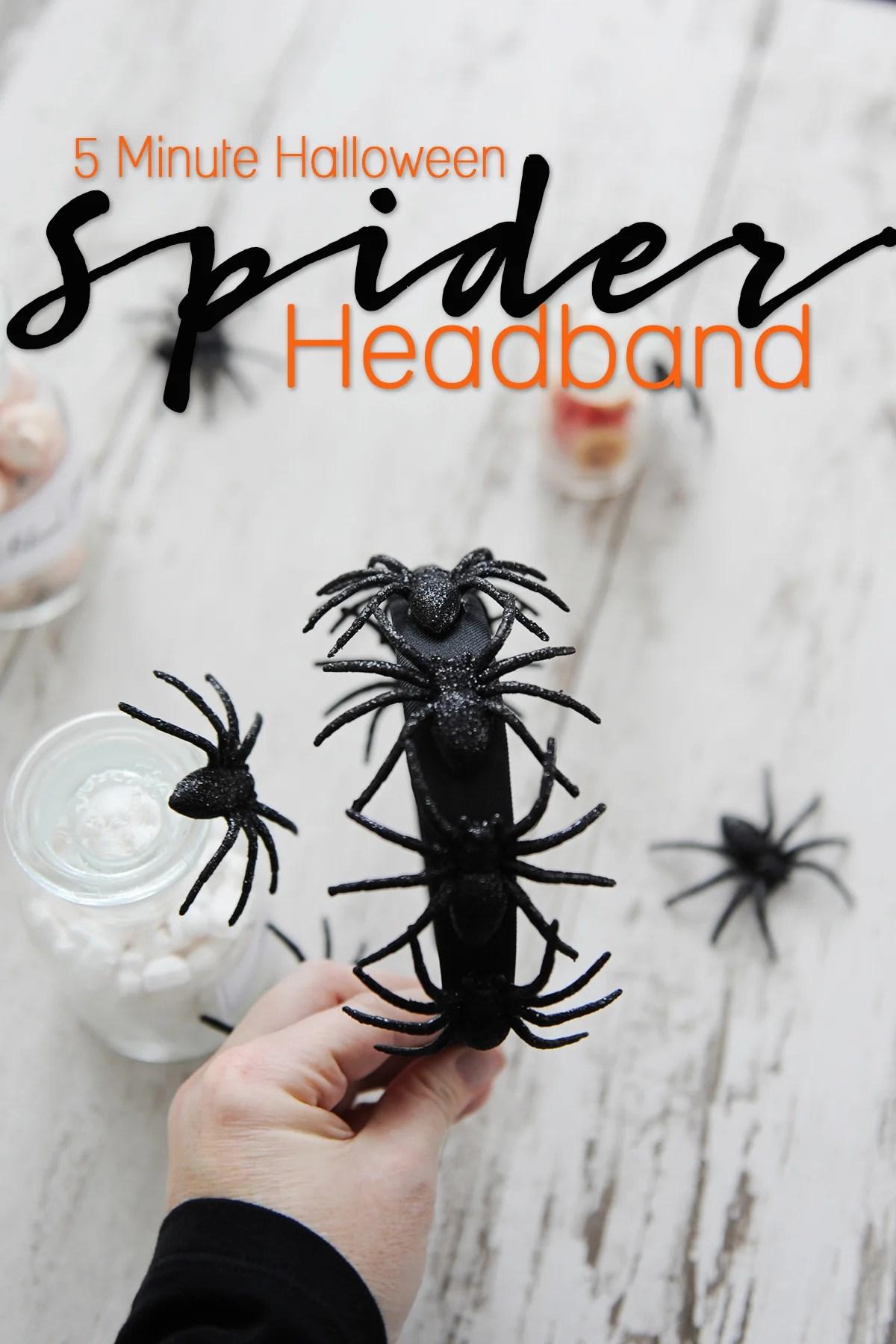5 minute halloween spider headband diy
